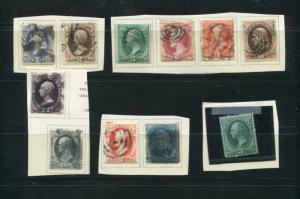 USA Used Lot 1873/75  Banknotes  F-VF  -  LSP