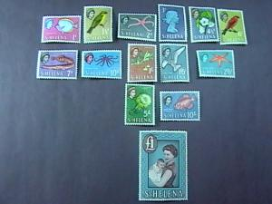 ST.HELENA # 159-172 -MINT/NEVER HINGED & MINT/HINGED-COMPLETE SET-------1961