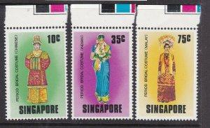 SINGAPORE ^^^^sc#257-259   MNH set (  COSTUMES  ) $$@lar2225singa
