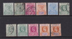 Gambia a small lot of QV & Edwards M & U