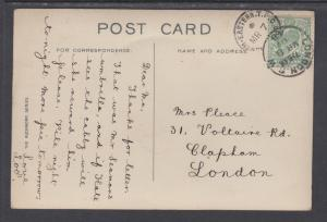 Great Britain Sc 143 on 1948 color PPC The Cliffs, Tynemouth