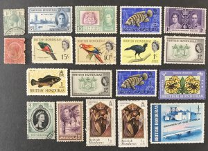 British Honduras Mixed lot, 19 total issues, #110820, CV $4.75+