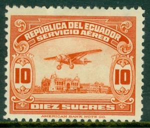 EDW1949SELL : ECUADOR 1929 Sc #C15 VF Mint OG Tiny thins in margin only Cat $135