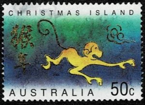 Christmas Island 2004 Year of the Monkey Used