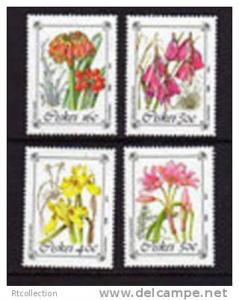 South Africa CISKEI 1988 Protected Flowers Stamps SG 123-126