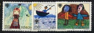 Faroe Islands, Scott #45-47, Mint, Never Hinged