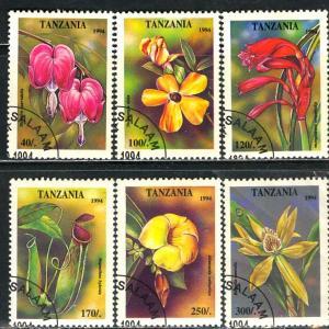 Tanzania 1995: Sc. # 1303-1308; O/Used CTO Short Set