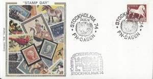 Sweden.  Stamp Day at Stockholmia 74, Special Cancel Colorano Cachet