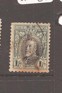 Southern Rhodesia SG 23a P 11 1/2 toned VFU (6axe)