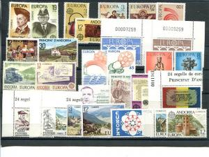 Sp. Andorra  Europa  15 sets  VF NH - Lakeshore Philatelics