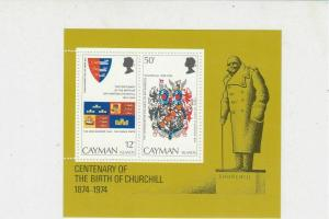 Cayman Islands 1974 Sir Winston Churchill MNH Mini Stamps Sheet Ref 27109