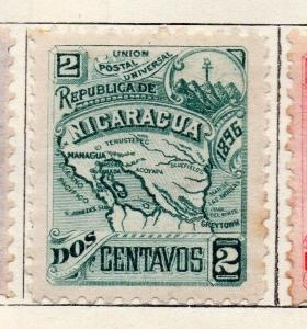 Nicaragua 1896 Early Issue Fine Mint Hinged 2c. 128430