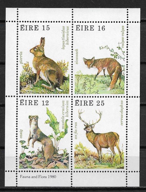 1980 Ireland 483a Fauna & Flora MNH S/S
