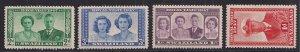Swaziland 1947 KGV1 Set of 4 Royal Wedding stamps Umm SG 42 - 45 ( D995 )