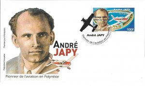 TAHITI (FRENCH POLYNESIA)/2019 - (FDC) A. JAPY, PIONEER OF AVIATION (Plane), MNH