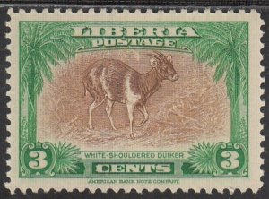 Liberia, Sc 285, MLH, 1942, White Shouldered Duiker