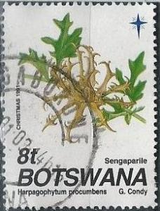 Botswana 502 (used) 8t devil's claw (Harpagophytum procumbens) (1991)