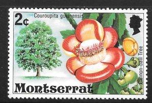 Montserrat 341: 2c Cannonball tree, MH, VF