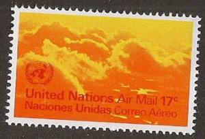 United Nations C17 New York Air Mail 17c single MNH 1972