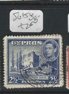 CYPRUS  (P0303B)  KGVI  2 1/2P  SG 154     VFU
