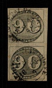 Brazil SC# 3, Used, intermediate pair - S10164