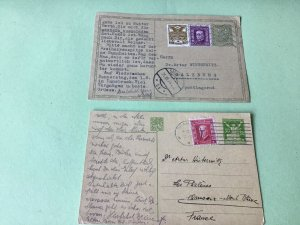 Czechoslovakia 1916 1929   two used postal stationary post cards Ref R32612