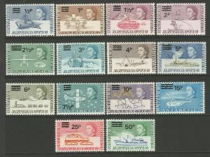 British Antarctic Territory (BAT) 1971 Decimal Surcharge Set MNH CV £85 SG24-37