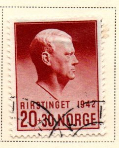 Norway Sc B27 1942 Quisling stamp used