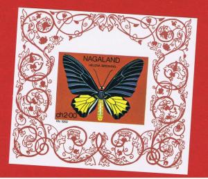 Nagaland MNH OG 1969  Private Issue Butterfly Souvenir Sheets   Free S/H