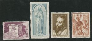 Greece Scott 535-538 MH* complete 1951 St. Paul set CV $1...