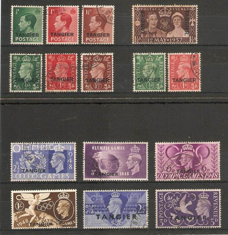 MOROCCO AGENCIES - TANGIER 1936 - 1948 SETS FINE USED