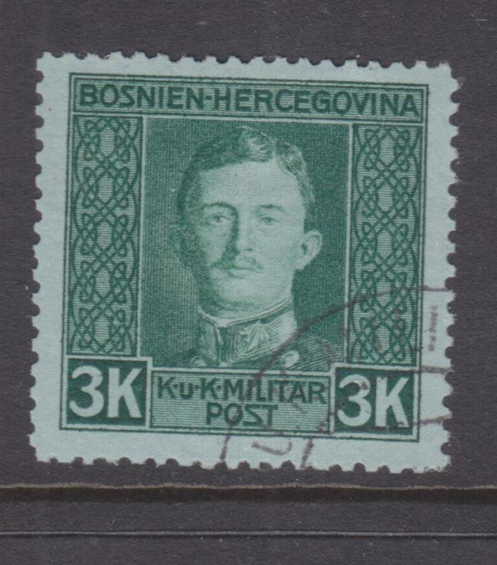 BOSNIA & HERZEGOVINA, 1917 Charles, 3k. Green on Blue, used.