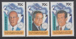 Barbados 869-871 MNH VF