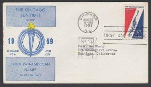USA 1959 Chicago Sun Times FDC - Pan American Games.........................P998