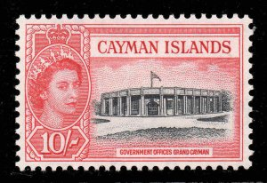 Cayman Islands 1953 QEII 10/- Government Offices SG 161 mint