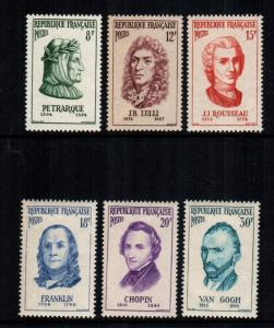 France 811 - 816 MNH cat $ 11.00