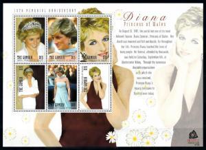 [91854] Gambia 2007 Royalty Princess Diana Sheet MNH
