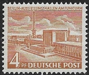 GERMANY / BERLIN - 1953-54 4pf Exposition Halls Issue Sc 9N101 MNH