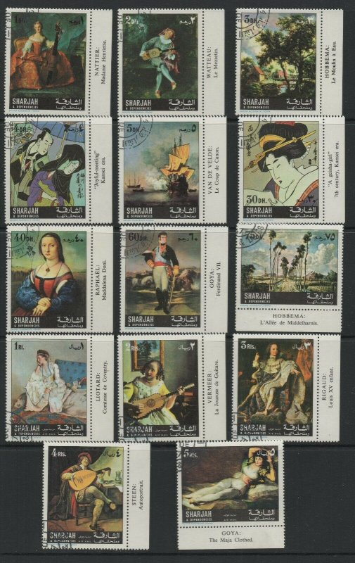 Sharjah & Dependencies  Stamp Selection 21 Stamps CTO MNH