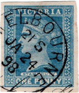 (I.B) Australia - Victoria Revenue : Stamp Duty 1d (postal cut-out)
