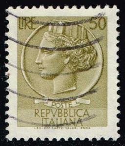 Italy #998J Italia from Syracusean Coin; Used (0.25)