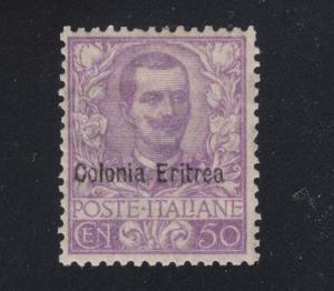 Eritrea Sc 27 MLH. 1903 50c violet stamp of Italy with ovpt, VLH, VF+