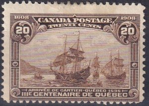 Canada #103  Unused  CV $250.00 (Z2610)