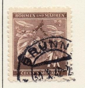 Germany Czechoslovakia 1942 Early Issue Fine Used 1k. 116510