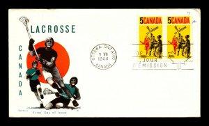 Canada 1968 Lacrosse FDC / Jackson Cachet / UA - L12375