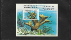 CORAL - DOMINICA  #624  MNH