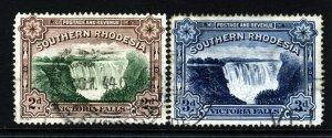 SOUTHERN RHODESIA KG V 1935-41 Victoria Falls POSTAGE & REVENUE SG 35a/35b VFU