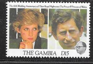 Gambia #1087 15d Charles & Diana (MNH) CV $6.00