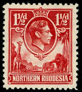 NORTHERN RHODESIA SG29, 1½d carmine-red, M MINT. Cat £50.