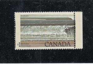 CANADA # 726 MNH $1 BLACK COLOUR SHIFTS AND MISPERF CAT VALUE $400 A BEAUTY